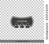 cinema icon. | Shutterstock .eps vector #610114154