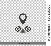 geo targeting icon. | Shutterstock .eps vector #610116020