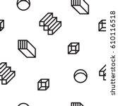 vector geometric seamless... | Shutterstock .eps vector #610116518