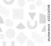 vector geometric seamless... | Shutterstock .eps vector #610116548
