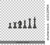 chess pieces icon. | Shutterstock .eps vector #610120904