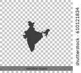 india map. | Shutterstock .eps vector #610121834