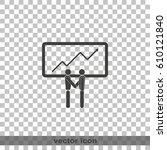 team efficiency icon. | Shutterstock .eps vector #610121840