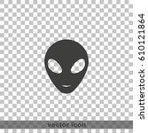 alien head icon. | Shutterstock .eps vector #610121864