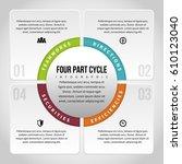 vector illustration of four... | Shutterstock .eps vector #610123040
