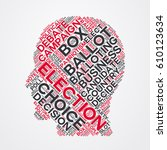 election word cloud head... | Shutterstock .eps vector #610123634