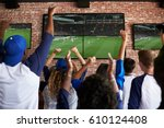 rear view of friends watching... | Shutterstock . vector #610124408