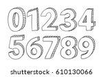 set of hand drawn vector... | Shutterstock .eps vector #610130066