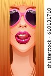 close up of sexy blonde woman's ...   Shutterstock .eps vector #610131710