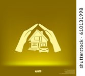 house concept icon | Shutterstock .eps vector #610131998