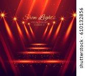 spot lights stage entrance... | Shutterstock .eps vector #610132856