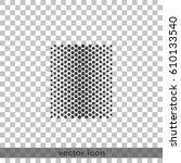 halftone dots. flat dots...   Shutterstock .eps vector #610133540