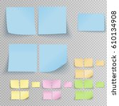 set of office sticky stickers... | Shutterstock .eps vector #610134908