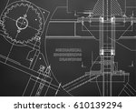 blueprints. mechanical... | Shutterstock .eps vector #610139294
