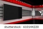 tv studio. backdrop for tv... | Shutterstock . vector #610144220