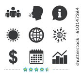 business icons. graph chart and ... | Shutterstock .eps vector #610147364