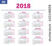 German Calendar 2018 ...