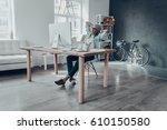 considering the next step....   Shutterstock . vector #610150580