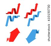 increase  recession  growth ... | Shutterstock .eps vector #610150730