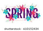 vector spring banner with... | Shutterstock .eps vector #610152434