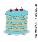 festive beautiful delicious... | Shutterstock .eps vector #610153268