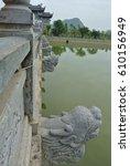 stone bridge in vietnam | Shutterstock . vector #610156949