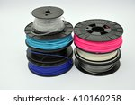 3d printing filament | Shutterstock . vector #610160258