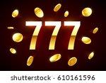 lucky sevens casino banner ...   Shutterstock .eps vector #610161596