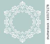 elegant vector round white... | Shutterstock .eps vector #610171178