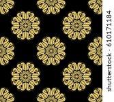 floral vector ornament.... | Shutterstock .eps vector #610171184