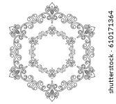 oriental vector pattern with... | Shutterstock .eps vector #610171364