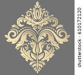 oriental vector golden pattern... | Shutterstock .eps vector #610172120