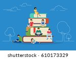 e learning concept illustration ... | Shutterstock . vector #610173329