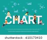 chart concept illustration of... | Shutterstock . vector #610173410