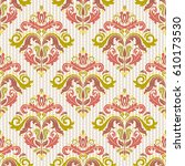 damask vector classic colorful... | Shutterstock .eps vector #610173530