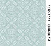 damask vector classic light... | Shutterstock .eps vector #610173578