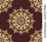 classic seamless vector golden... | Shutterstock .eps vector #610173584