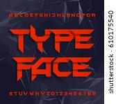 decorative alphabet typeface.... | Shutterstock .eps vector #610175540