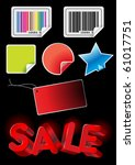 price tag  sale  stickers... | Shutterstock .eps vector #61017751