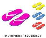 Isometric Slippers Set Of...
