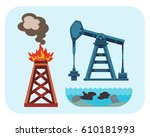 ecological problems... | Shutterstock .eps vector #610181993