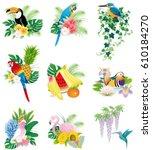 birds icons | Shutterstock .eps vector #610184270