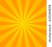 sunny  orange and yellow banner ... | Shutterstock .eps vector #610184828
