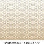 geometric triangle halftone... | Shutterstock .eps vector #610185770