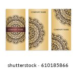 set of templates for business...   Shutterstock .eps vector #610185866
