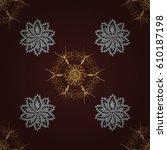 seamless oriental ornament in... | Shutterstock .eps vector #610187198