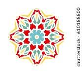 circular background. oriental... | Shutterstock . vector #610188800