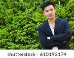 portrait business man  a... | Shutterstock . vector #610193174