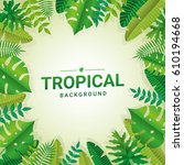 tropical summer paper background | Shutterstock .eps vector #610194668