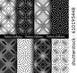black white dots pattern... | Shutterstock .eps vector #610195448
